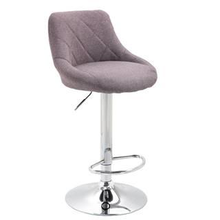 Barová stolička sivohnedá TAUPE/chrómová MARID