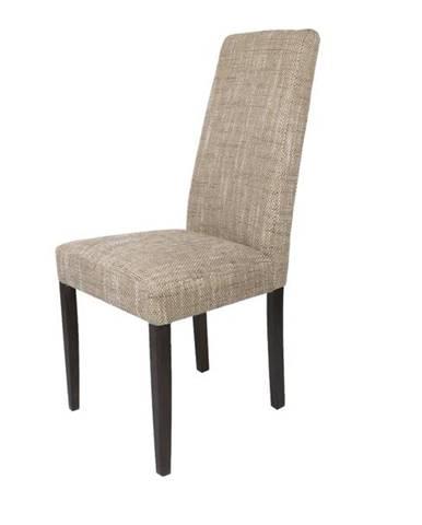 Jedálenská stolička CAPRICE capuccino melír/wenge